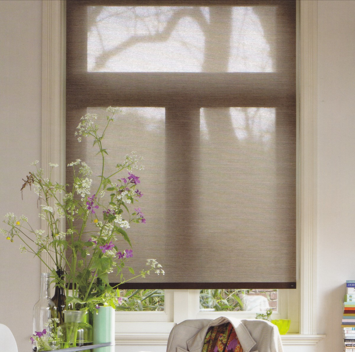 Deco 1 - Luxaflex Sheer Natural Roller Blind